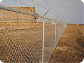 Commercial Security Fencing with Razor Wire