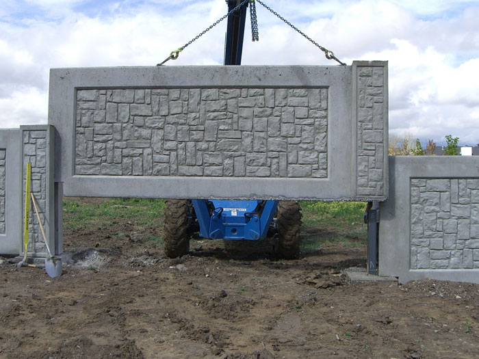 Colorado Concrete Fence Multi Panel Concrete Fence