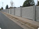 Colorado Concrete Fence Multi Panel Concrete Fence