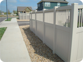Vinyl Fence at a Subdivision