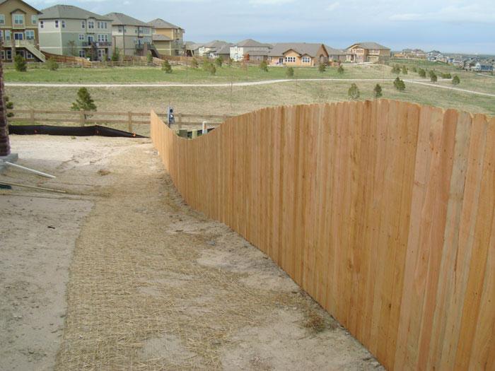 residential cedar fencing